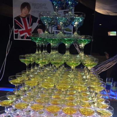 今日の一枚 Destiny 本気 Group D 遊びも本気 イベント シャンパン バースデー シャンパンタワー 従業員大募集中!
