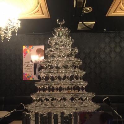 めでたい イベント シャンパン 聖誕祭 バースデー シャンパンタワー